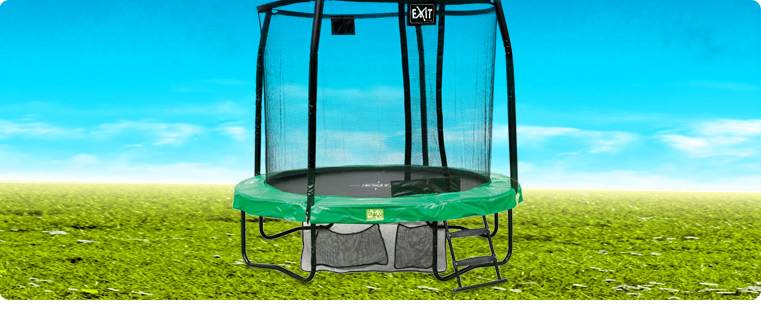 trampoline komplettsets o ebenerdig g nstig kaufen. Black Bedroom Furniture Sets. Home Design Ideas