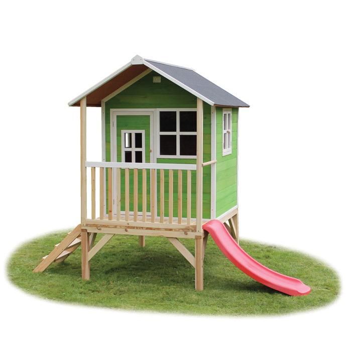holz kinder spielhaus flaches stelzen kinderspielhaus. Black Bedroom Furniture Sets. Home Design Ideas