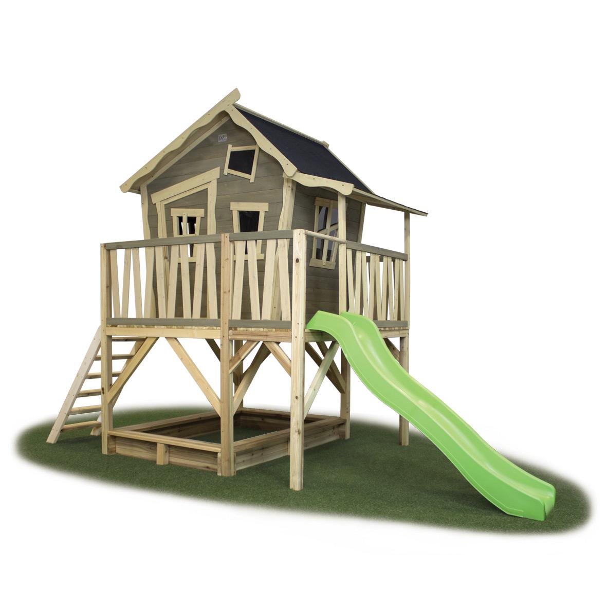 Kinder Spielhaus EXIT Crooky 550 Holz Stelzenhaus auf