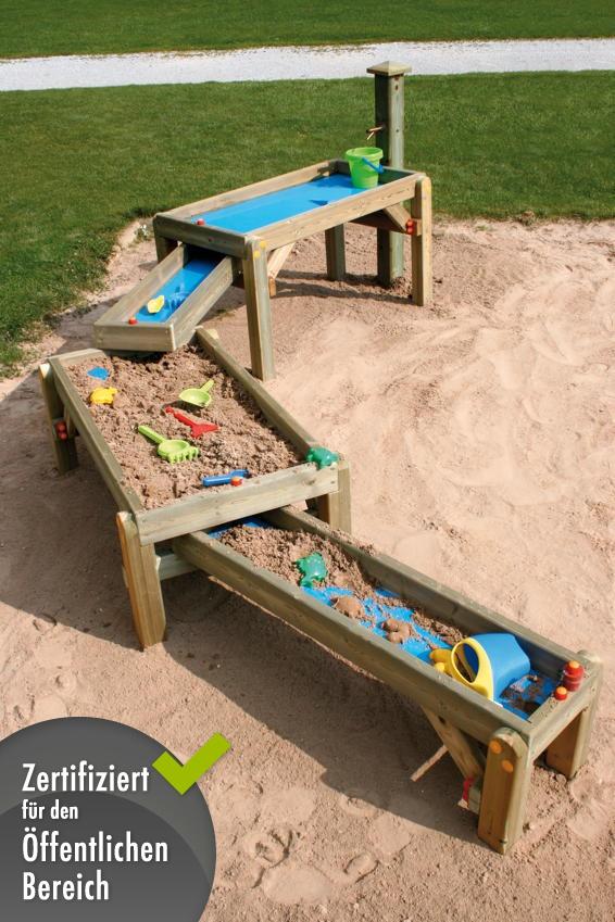 Sandtisch Din En 1176 Spiel Wasser Sandkasten Wasserspielstraße