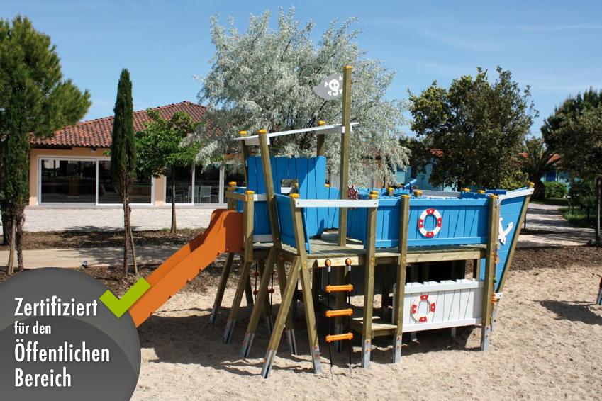 Klettergerüst Kinder : Kinder spielplatz din en «kaluba piratenschiff kletterberüst