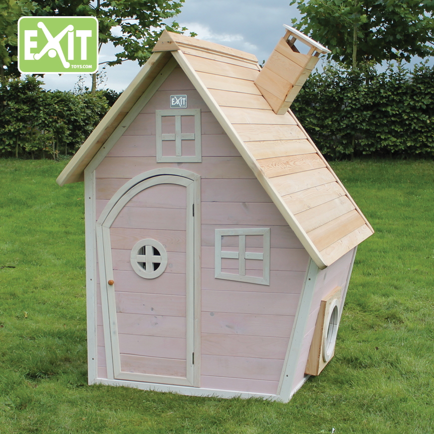 kinder spielhaus exit fantasia 100 comic kinderspielhaus holzhaus rosa kaufen im holz haus. Black Bedroom Furniture Sets. Home Design Ideas