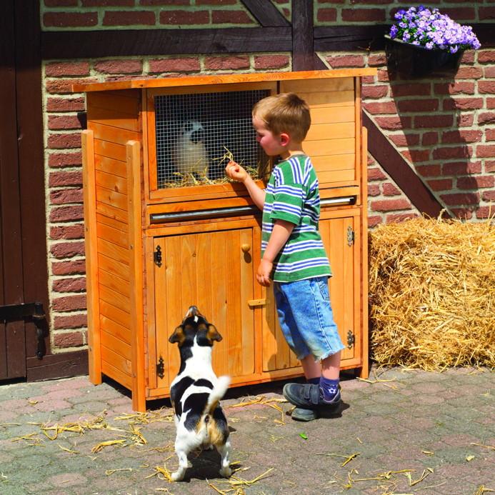 holz hasenstall promadino hasenstall paul mit unterschrank kaninchenstall kaufen im holz. Black Bedroom Furniture Sets. Home Design Ideas