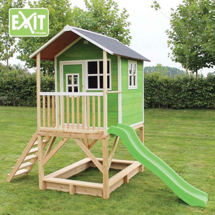 kinder spielhaus exit loft 500 kinderspielhaus stelzenhaus holzhaus natur kaufen im holz. Black Bedroom Furniture Sets. Home Design Ideas