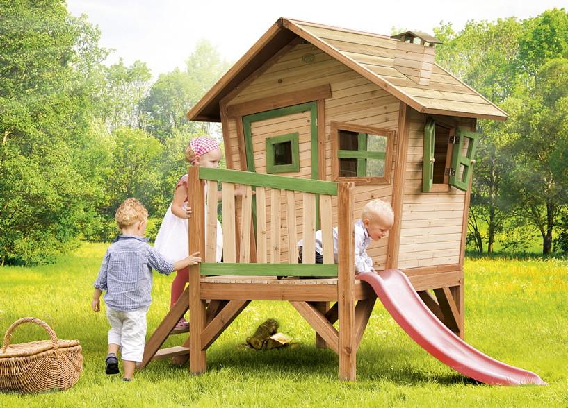 Sehr Holz-Kinder-Spielhaus Krummy klein Gartenhaus Comic Stelzenhaus VA79