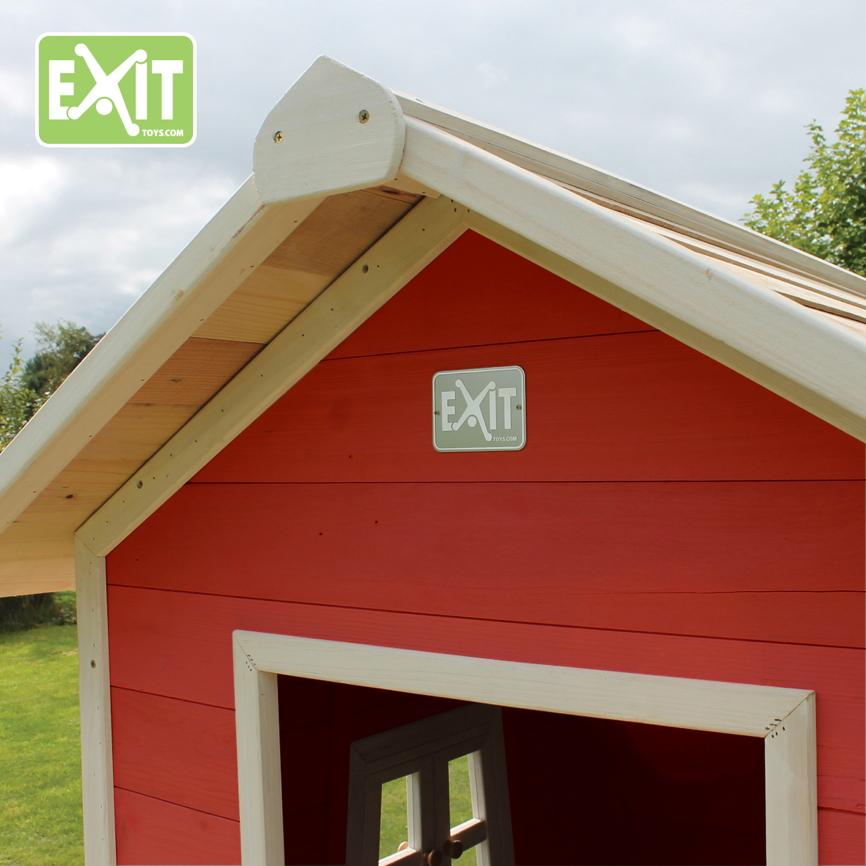 kinder spielhaus exit beach 100 kinderspielhaus holzhaus rotbraun kaufen im holz. Black Bedroom Furniture Sets. Home Design Ideas
