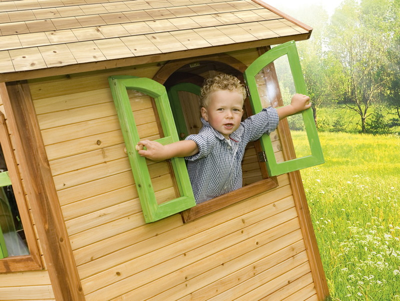 kinder spielhaus holz axi julia kinder holzhaus gartenhaus gartenspielhaus kaufen im holz. Black Bedroom Furniture Sets. Home Design Ideas