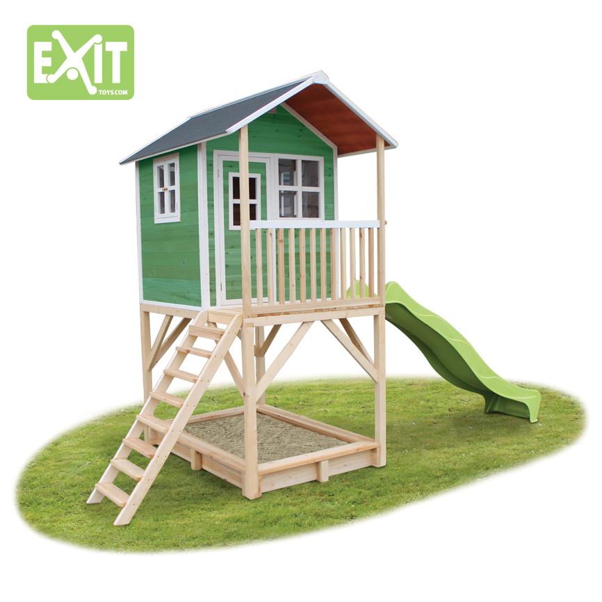 kinder spielhaus exit loft 700 kinderspielhaus stelzenhaus holzhaus gr n kaufen im holz haus. Black Bedroom Furniture Sets. Home Design Ideas