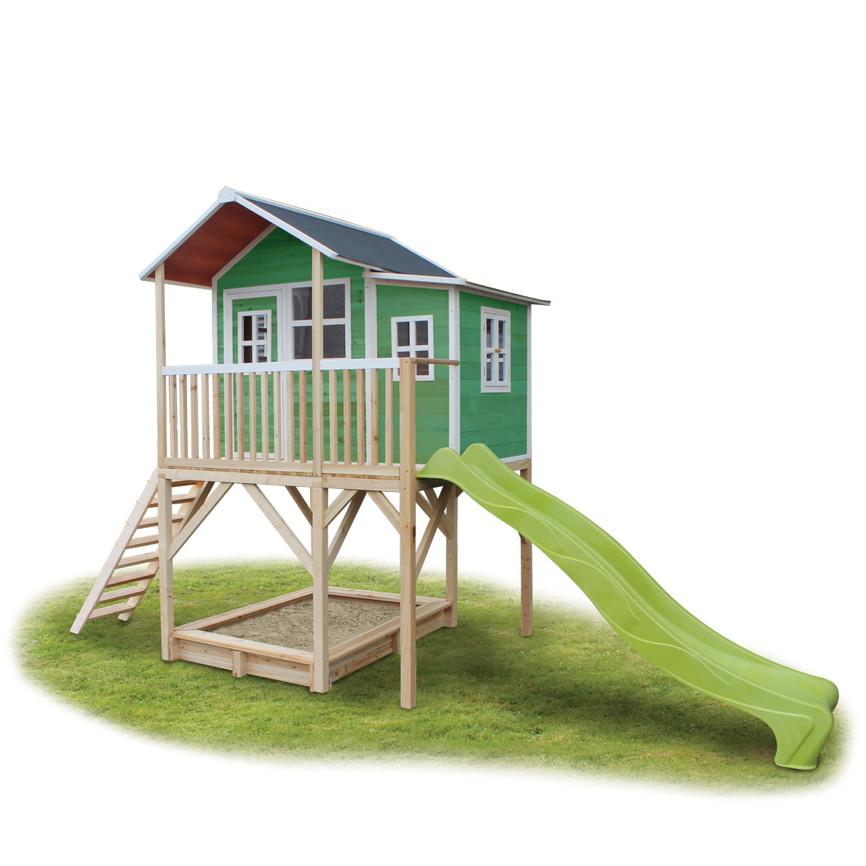 Berühmt Holz-Kinder-Spielhaus Stelzen-Kinderspielhaus Stelzenhaus grün VR25