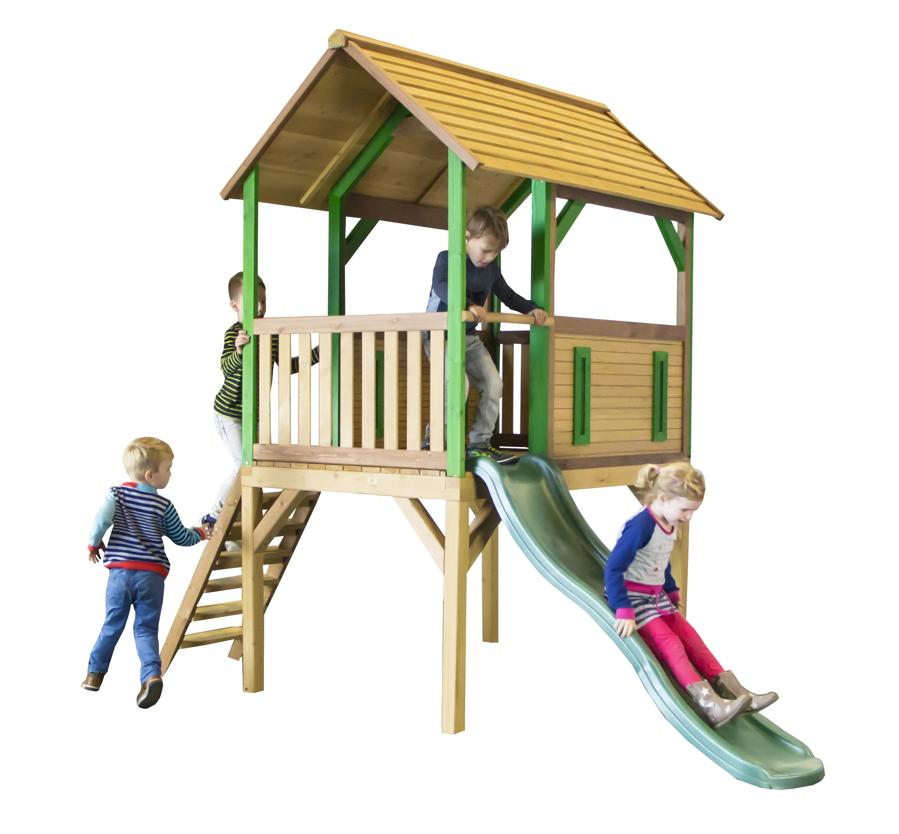 Kinder Spielturm Holz Hohes Offenes Stelzen Spielhaus Rutsche