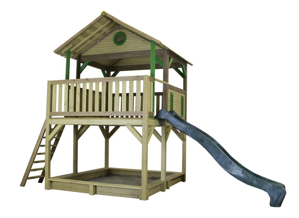 Holz Kinder Spielturm Hohes Offen Stelzen Spielhaus Rutsche