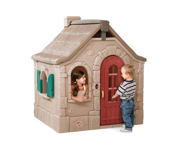 kinder spielhaus step 2 f rsterhaus kinderhaus kunststoff vom spielger te fachh ndler. Black Bedroom Furniture Sets. Home Design Ideas