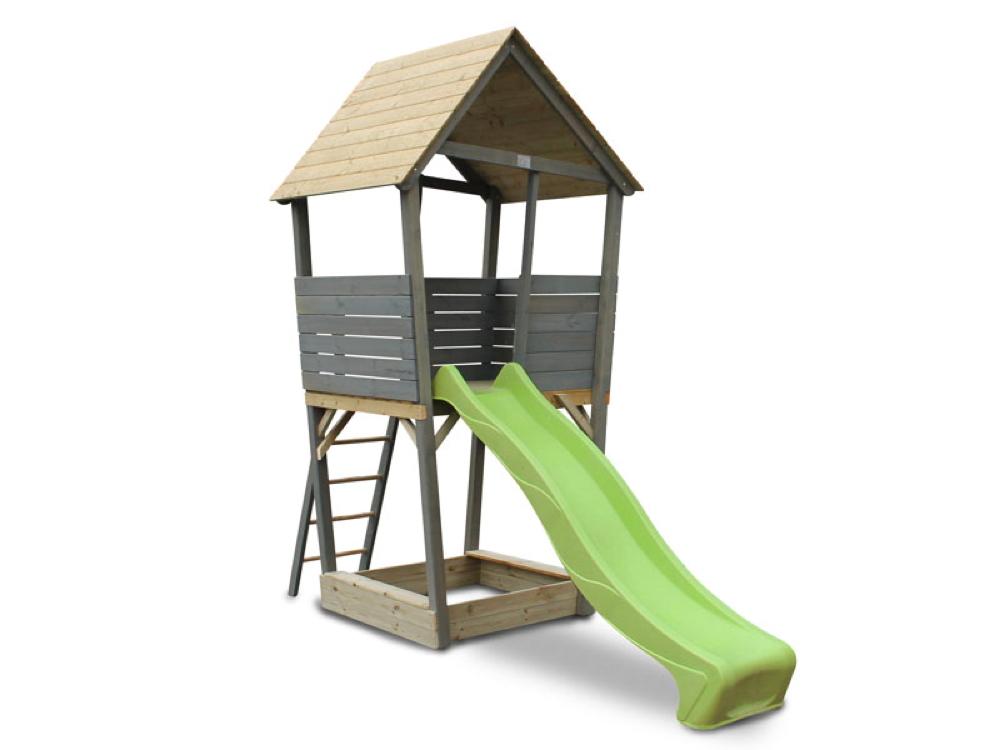 Bevorzugt Kinder-Spielturm EXIT «Aksent» Spielturm Holzspielhaus mit Rutsche XB49