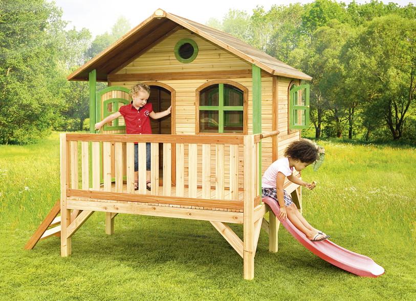 kinder spielhaus flaches podest kinderspielhaus. Black Bedroom Furniture Sets. Home Design Ideas