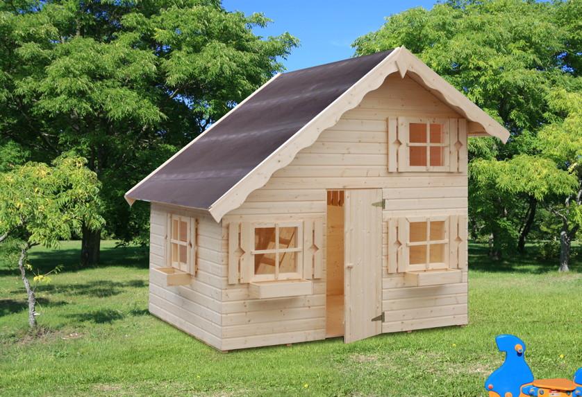 kinder spielhaus tree chambers kids anna holz kinderspielhaus 2 etagen garten kaufen im holz. Black Bedroom Furniture Sets. Home Design Ideas