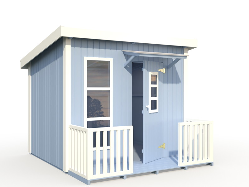 kinder spielhaus tree chambers kids lene flachdachhaus. Black Bedroom Furniture Sets. Home Design Ideas