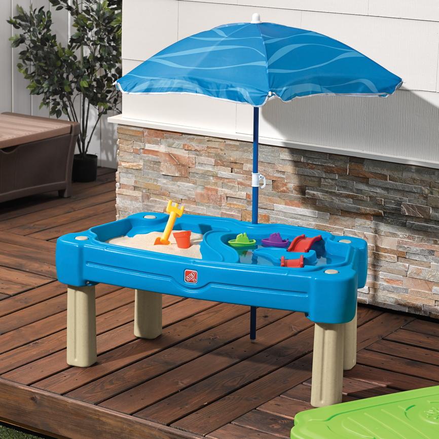 wasser sand spieltisch step 2 cascading cove wassertisch sandkasten sandtisc vom. Black Bedroom Furniture Sets. Home Design Ideas