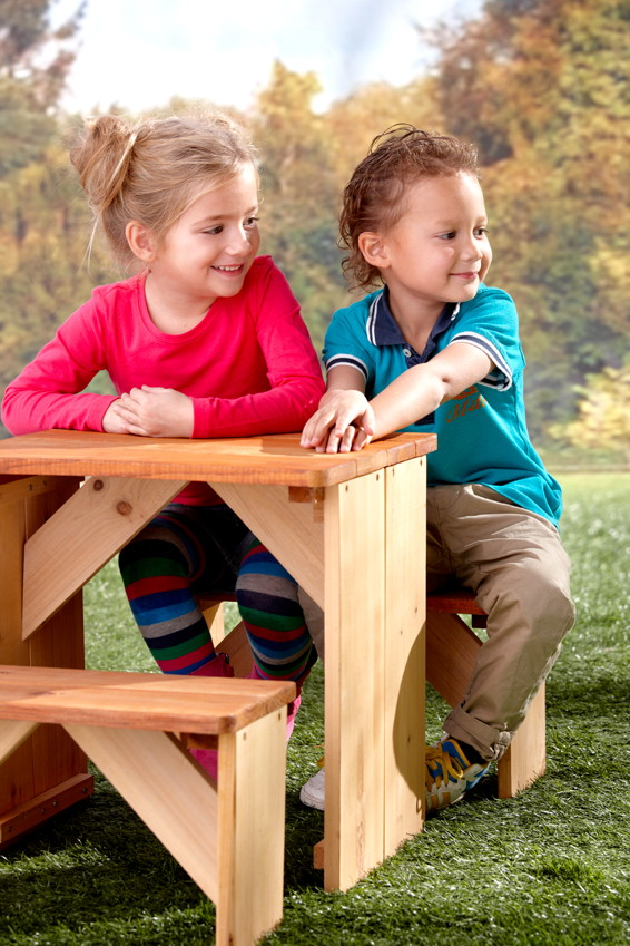 kinder picknickbank axi zidzed xl kinderbank holz sitzgruppe vom spielger te fachh ndler. Black Bedroom Furniture Sets. Home Design Ideas
