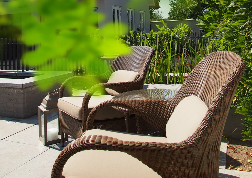 Gartenstuhl 4seasons sussex polyloom taupe stapelsessel - Salon de jardin bas riverside wicker ...