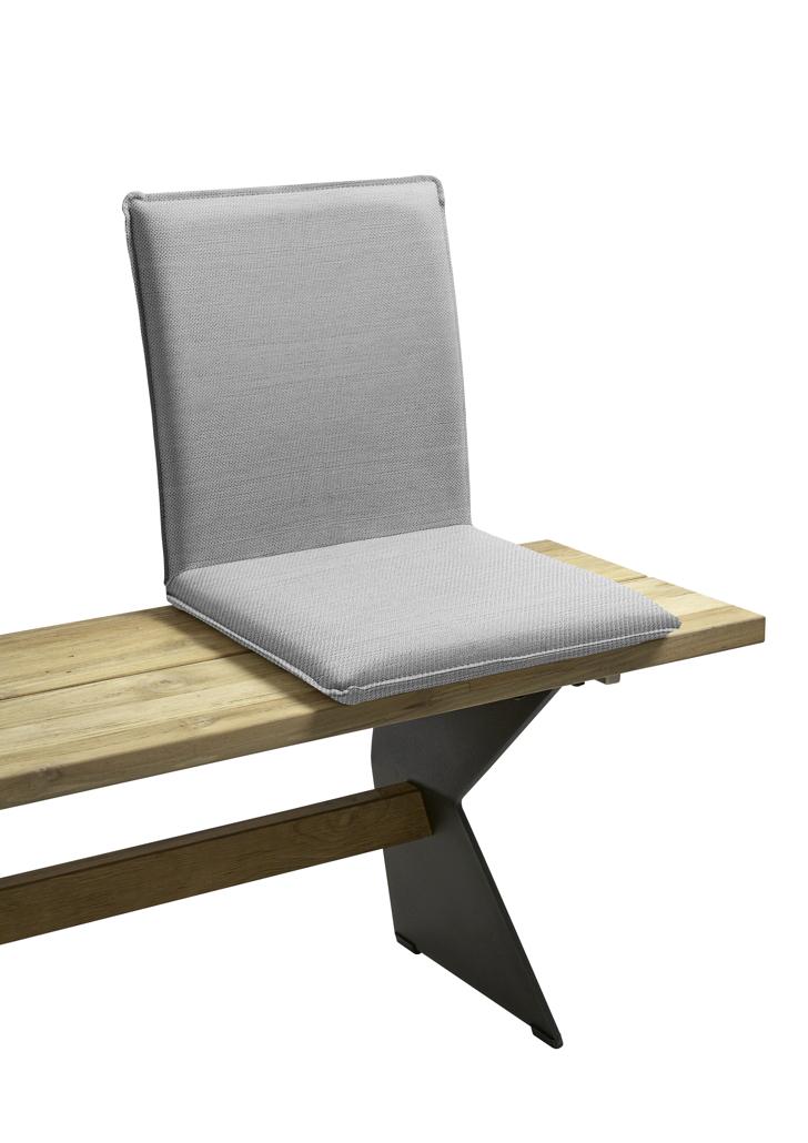 sitzschale niehoff nette sitzkissen f r gartenbank batyline grau kaufen im holz. Black Bedroom Furniture Sets. Home Design Ideas