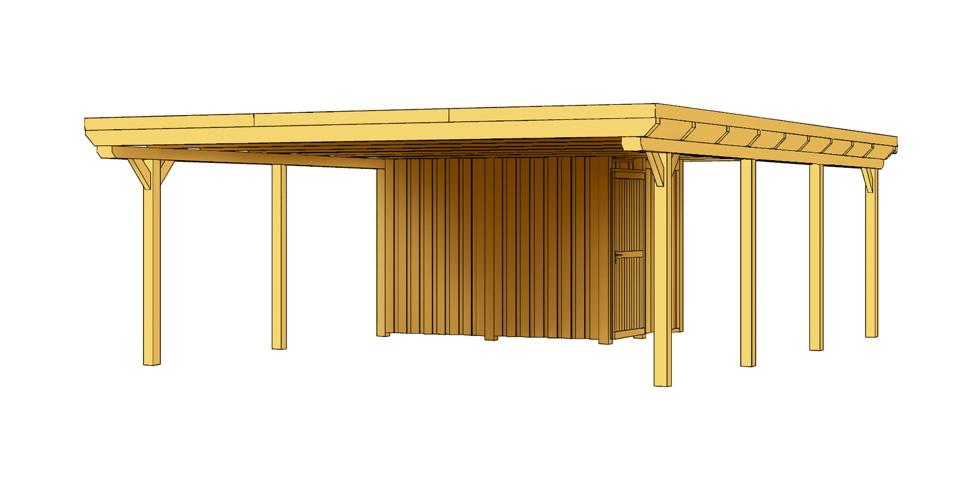 holz carport bausatz skanholz emsland flachdach doppelcarport leimholz vom spielger te. Black Bedroom Furniture Sets. Home Design Ideas