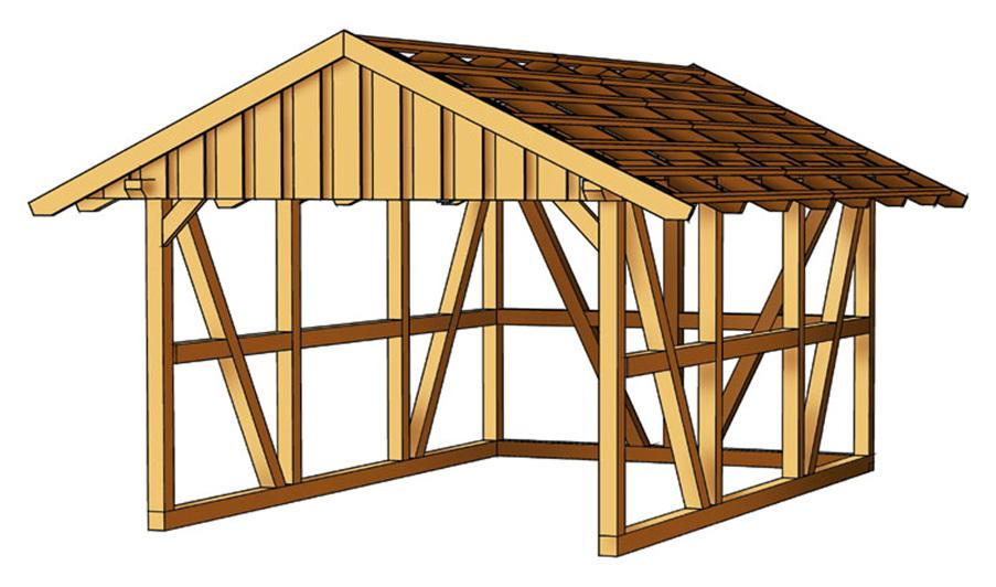 holz carport skanholz schwarzwald einzelcarport mit dach fachwerk carport vom spielger te. Black Bedroom Furniture Sets. Home Design Ideas