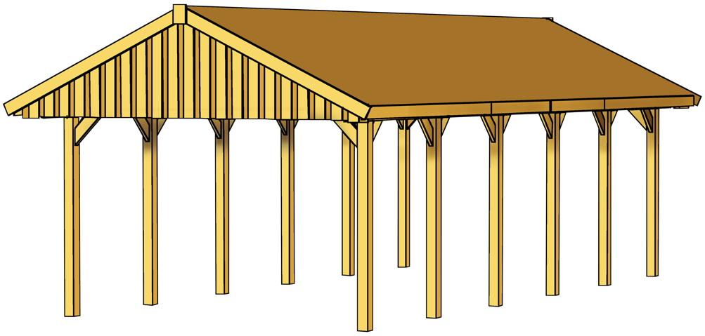 holz carport skanholz sauerland satteldach einzelcarport. Black Bedroom Furniture Sets. Home Design Ideas