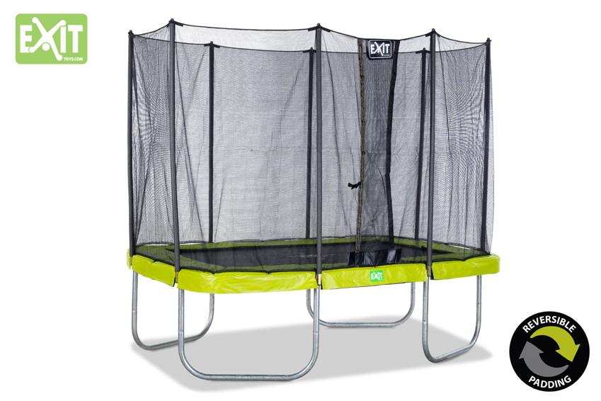 rechteckige trampoline insbesondere f r kleine g rten ideal trampoline komplettsets o. Black Bedroom Furniture Sets. Home Design Ideas