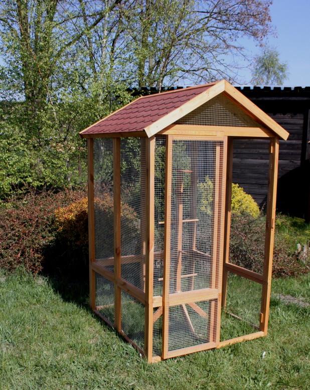 holz vogelhaus promadino xxl vogel voliere tierbehausung vogelk fig kaufen im holz. Black Bedroom Furniture Sets. Home Design Ideas