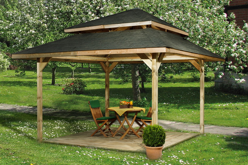 Kinderspielhaus Holz Hochwertig ~   Eck Holz Pavillon viele Varianten  Kaufen im Holz Haus de Online Shop
