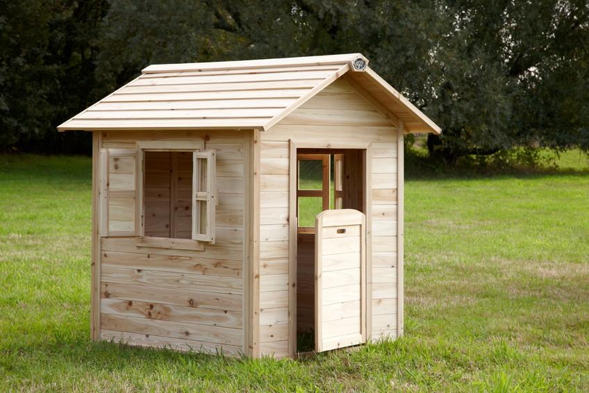 kinder holz spielhaus kinderspielhaus 2 fenster halbe. Black Bedroom Furniture Sets. Home Design Ideas
