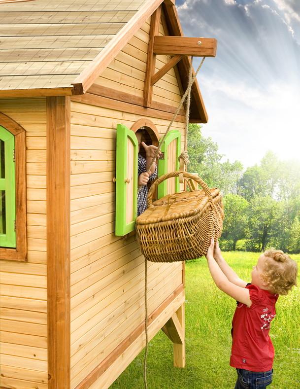 kinder spielhaus flaches podest kinderspielhaus stelzenhaus rutsche b 170cm kaufen im holz. Black Bedroom Furniture Sets. Home Design Ideas