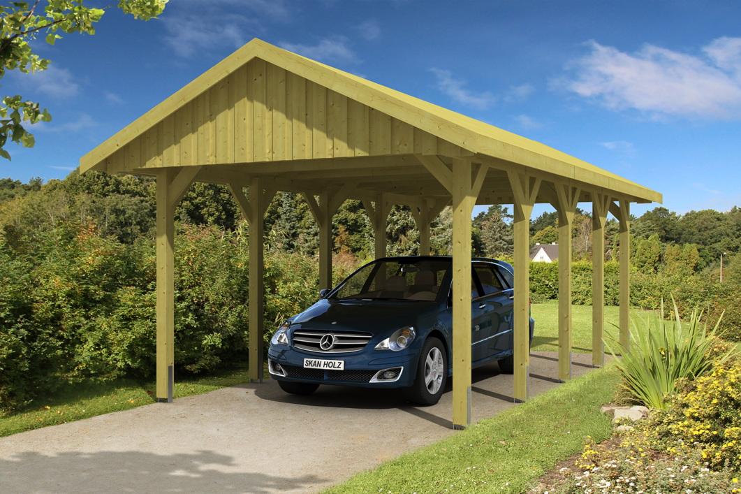 holz carport skanholz sauerland einzelcarport mit dachschalung satteldach kaufen im holz. Black Bedroom Furniture Sets. Home Design Ideas