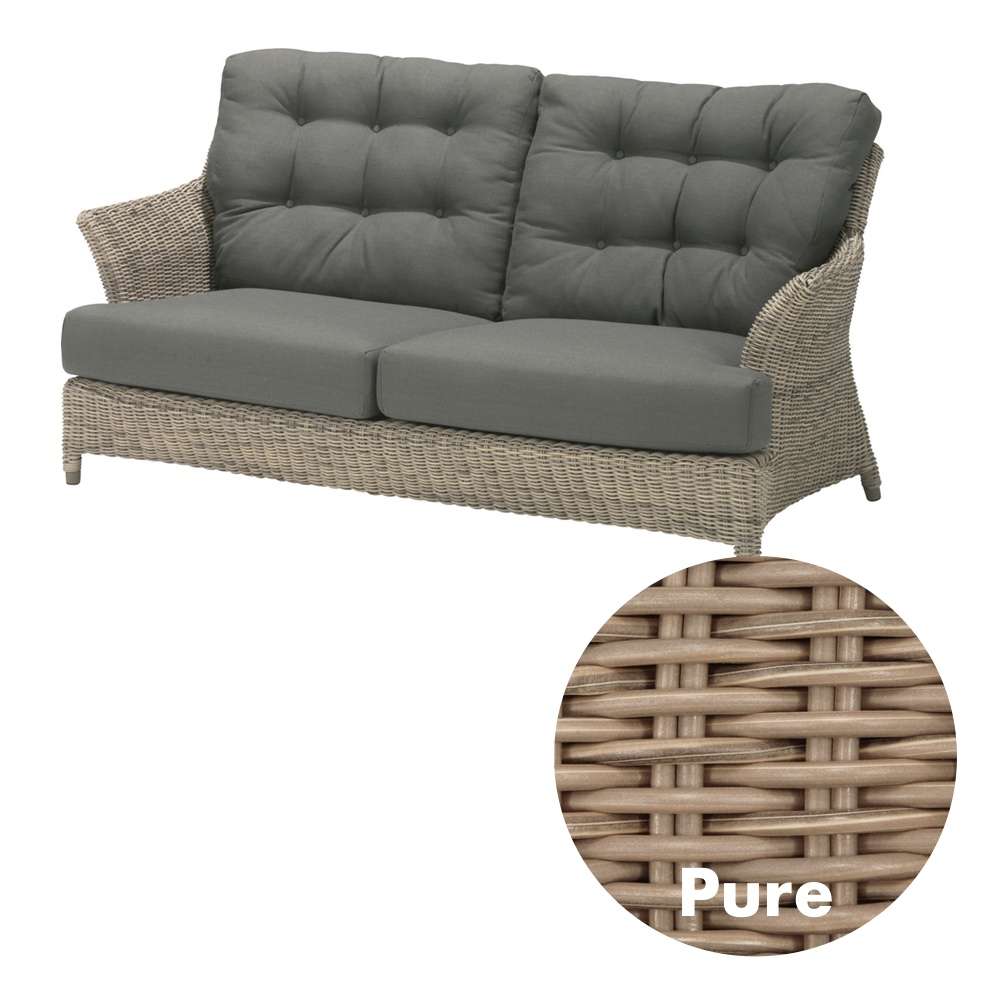 gartenbank 4seasons valentine pure 2er sofa korbsofa rattan geflecht kaufen im holz haus. Black Bedroom Furniture Sets. Home Design Ideas