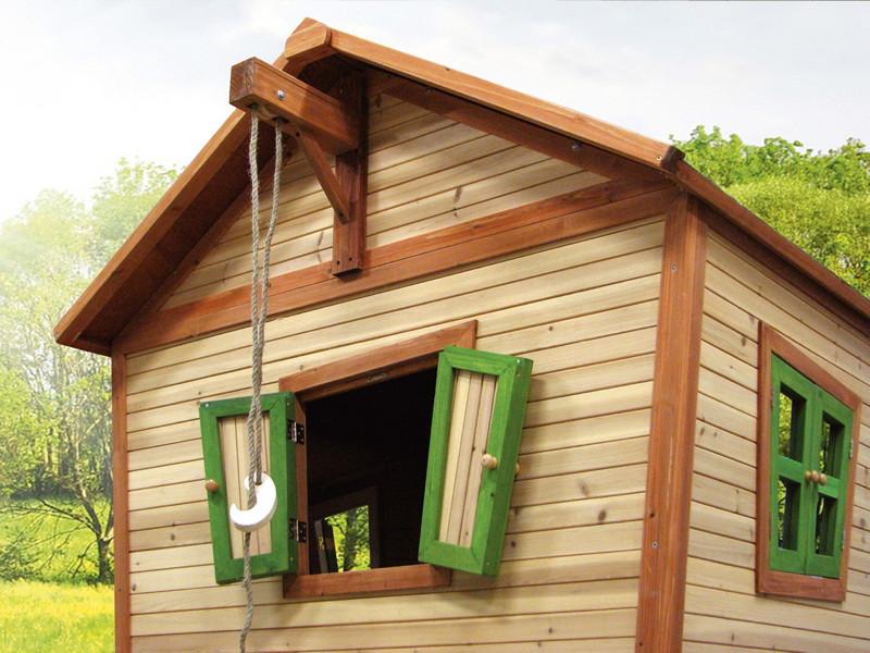 kinder spielhaus holz axi emma kinder holzhaus auf stelzen rutsche terrasse kaufen im holz. Black Bedroom Furniture Sets. Home Design Ideas