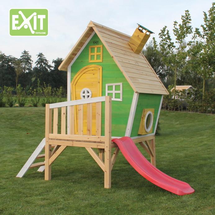 Kinderspielhaus Holz Baumarkt ~ Kinder Spielhaus Holz EXIT «Fantasia 300» Kinderspielhaus