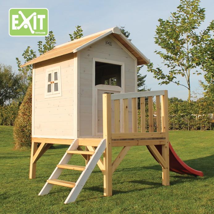 kinder spielhaus exit beach 300 kinderspielhaus stelzenhaus holz grau kaufen im holz. Black Bedroom Furniture Sets. Home Design Ideas