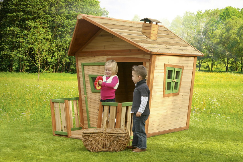 kinder spielhaus axi jesse holz comic kinderspielhaus mit terrasse kaufen im holz. Black Bedroom Furniture Sets. Home Design Ideas