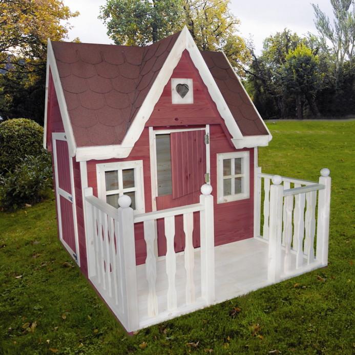 kinder spielhaus promadino schwalbennest holzhaus gartenhaus gartenspielhaus kaufen im holz. Black Bedroom Furniture Sets. Home Design Ideas