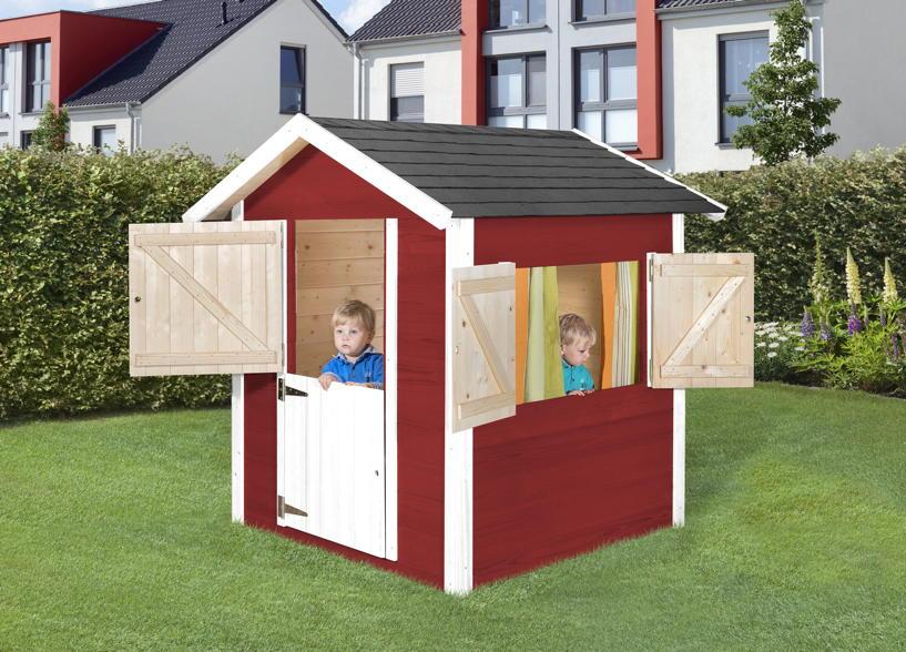 kinderspielhaus holz mit fusboden. Black Bedroom Furniture Sets. Home Design Ideas